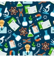 Physical and chemical research seamless pattern vector image