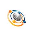 planet logo satellite logo cosmos logo planet vector image vector image