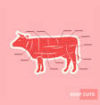 poster cut of beef set vector image