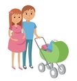 Pregnant woman and her husband on shopping vector image vector image