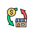 real estate sales exchange money for a house flat vector image