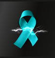 ribbon with lightning neurological diseases vector image vector image