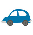 small blue car on white background vector image vector image