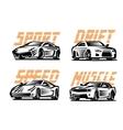 sport cars emblem vector image vector image