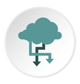 Storing files in cloud icon flat style vector image vector image