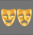 theatre masks isolated on dark vector image