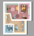top view of apartment interior vector image