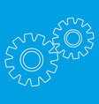 two gears icon outline style vector image vector image