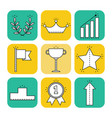 victory and success set of flat icons vector image vector image