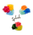 watercolor style with brush stro vector image vector image