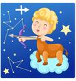 Zodiac signs - sagittarius vector image