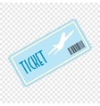 Airplane ticket flat icon vector image