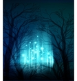 Abstract dramatic night tree vector image vector image