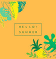 abstract tropical banner summer background vector image vector image