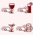 Alcohol and Driving Accident vector image