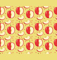 apples seamless pattern red apple endless vector image vector image