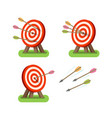 arrows and round target standing on tripod vector image vector image