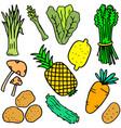 art of vegetable object doodles
