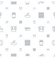 bathroom icons pattern seamless white background vector image vector image
