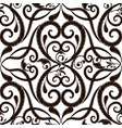 black and white embroidery damask seamless vector image vector image