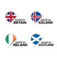 british icelandic irish and scottish stickers vector image vector image