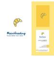 bun creative logo and business card vertical vector image vector image