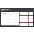 calendar for 2022 starts sunday vector image