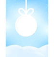 Christmas retro greeting card EPS10 vector image vector image