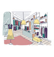 colored freehand drawing of trendy clothing vector image