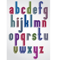 Colorful animated font comic solid lower case vector image vector image