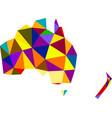 colorful mosaic abstract australia map vector image