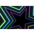 colorful neon glowing stars abstract background vector image vector image