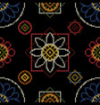 cross stitch seamless pattern background vector image vector image