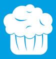 cupcake icon white vector image vector image