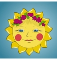 Fabulous sun girl vector image vector image