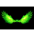 Fair wings Green 01 vector image vector image