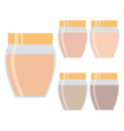 five creams for the skin vector image