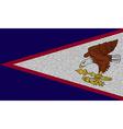 Flags American Samoa on denim texture vector image vector image