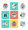 Flat Color Line Design Concepts Icons 35 vector image vector image