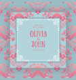 floral and geometric monogram frame on damask vector image vector image