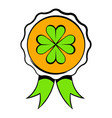 four leaves clover badge icon icon cartoon vector image vector image
