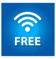 free wifi typographic design vector image
