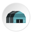 Garage storage icon flat style vector image vector image