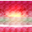 geometric background with sea sunset time vector image vector image