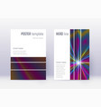 geometric cover design template set rainbow abstr vector image vector image