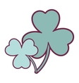 green clover icon vector image