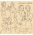Hand drawn gossiping girls vector image