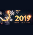 happy new 2019 year poster and flyer template vector image