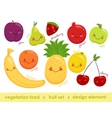 image of vegetarian food Cheerful fruit vector image vector image
