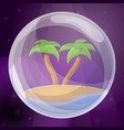 island soap bubble concept background cartoon vector image